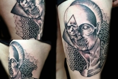 Geometric Skull Tattoo