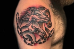 Pharaohs Horses Tattoo