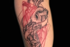 Linework Heart Tattoo