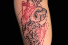 Linework Heart Tattoo