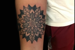 Mandala Blackwork Tattoo
