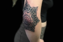 Mandala Elbow Tattoo