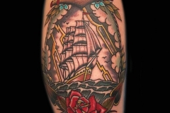 Clipper Ship and Anchor Tattoo