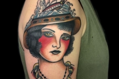 Ship GirlHead Tattoo