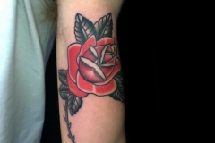 Classic Traditional Rose Tattoo