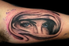 Realistic Eyes Tattoo