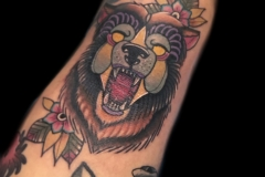 Neotraditional Bear Tattoo