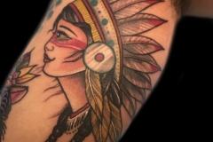 Native American Girl Tattoo
